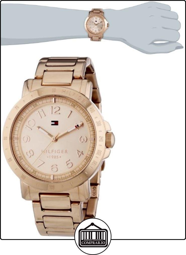 c62d3993f Tommy Hilfiger Liv - Reloj de cuarzo para mujer, correa de acero inoxidable  chapado color