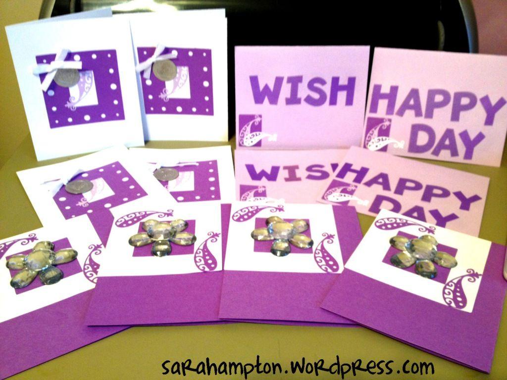 Purple paisley cards