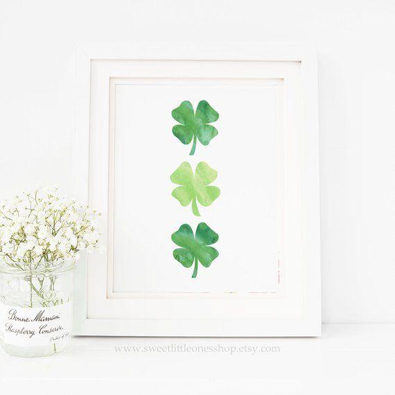8x10 Four Leaf Clovers Print St Patrick's Day Print Green ...