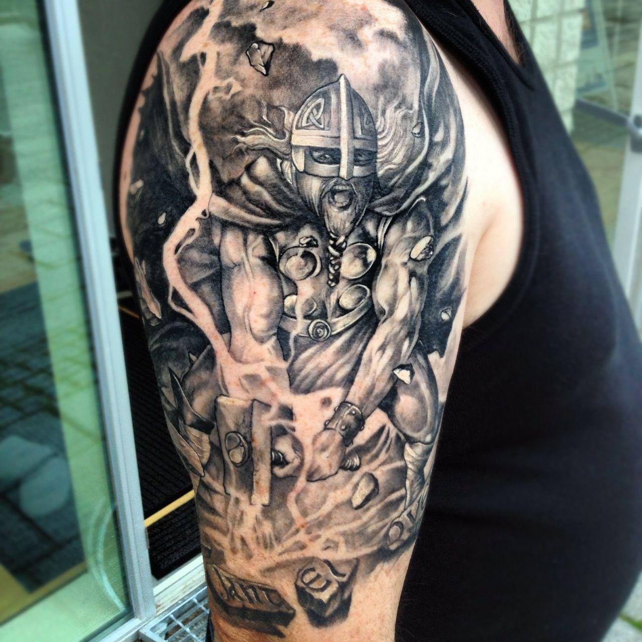Viking Thor tattoo Viking tattoos, Viking tattoo design