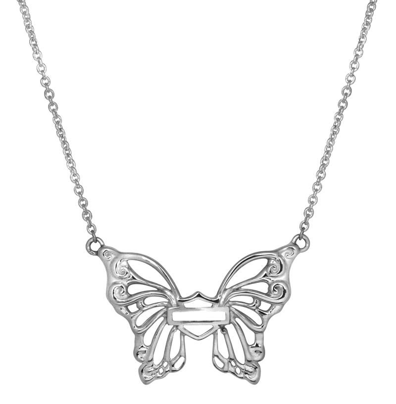 dc99dc369 harley davidson jewelry for women | Harley-Davidson® MOD® Women's Butterfly  Necklace HDN0265