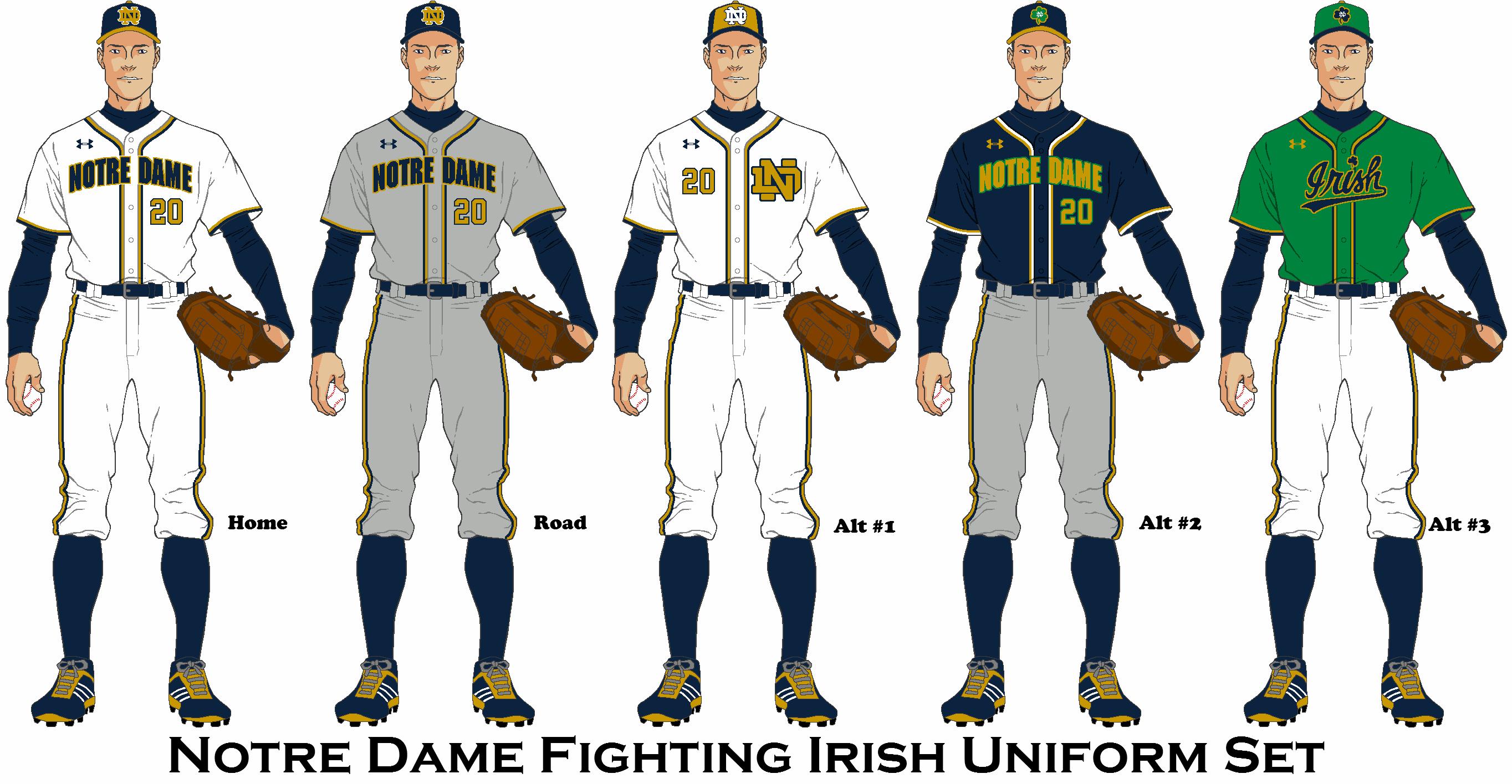 Notre Dame Fighting Irish Baseball Uniform Concept Notre Dame Fighting Irish Baseball Uniform Baseball