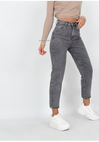 Jean Mom Gris Jeans Outfit Women Mom Jeans Outfit Outfits Con Jeans