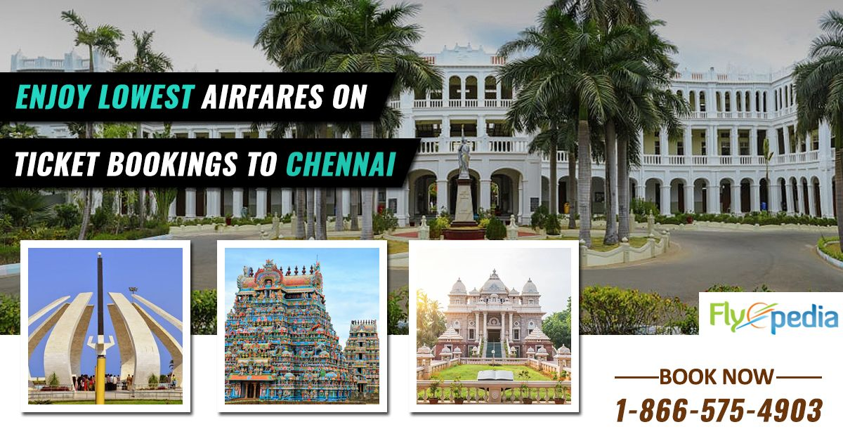 Cheap flights to Chennai with #Flyopedia. Check offers to find the lowest Chennai airfare flights to popular Indian cities. Book Now!    For more information call us at- 1-866-575-4903 (Toll-Free).  #CheapFlightstoChennai #flightstochennai #FlightsFromUSAToChennai #bookchennaiflights #Luxury #Travel #BookCheapFlights #beatthatflight #flightdeals #cheapflights #travelhacks #India #Chennai