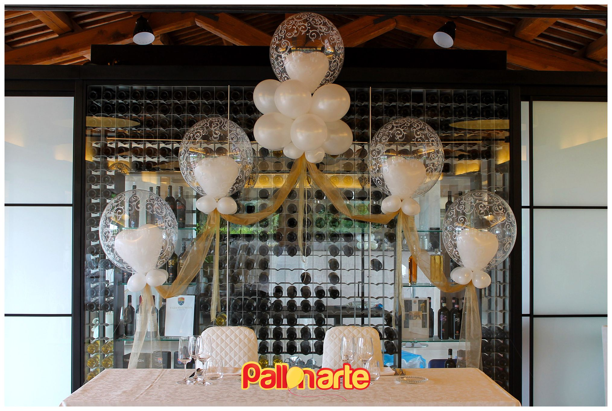Tavolo d'onore palloncini. Allestimento matrimonio. table of honor