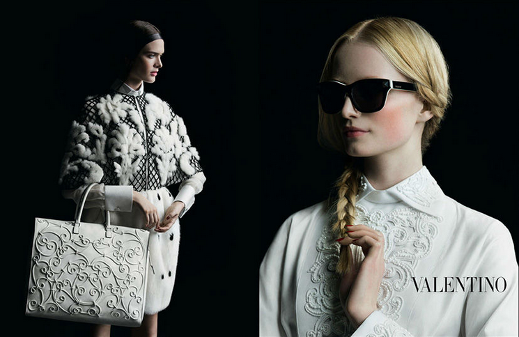 Valentino F/W 2013 campaign, photography by Inez Van Lamsweerde and Vinoodh Matadin