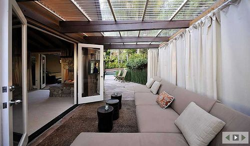 Covered Patio Designs Outdoor Curtains Photo Gallery 500x292