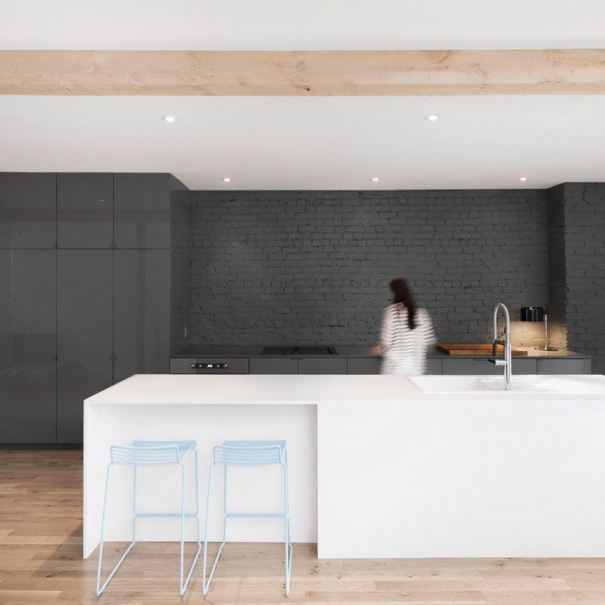 Apartment Kitchen Sink Backing Up: The Kitchen Area In This Montreal Apartment By Anne Sophie
