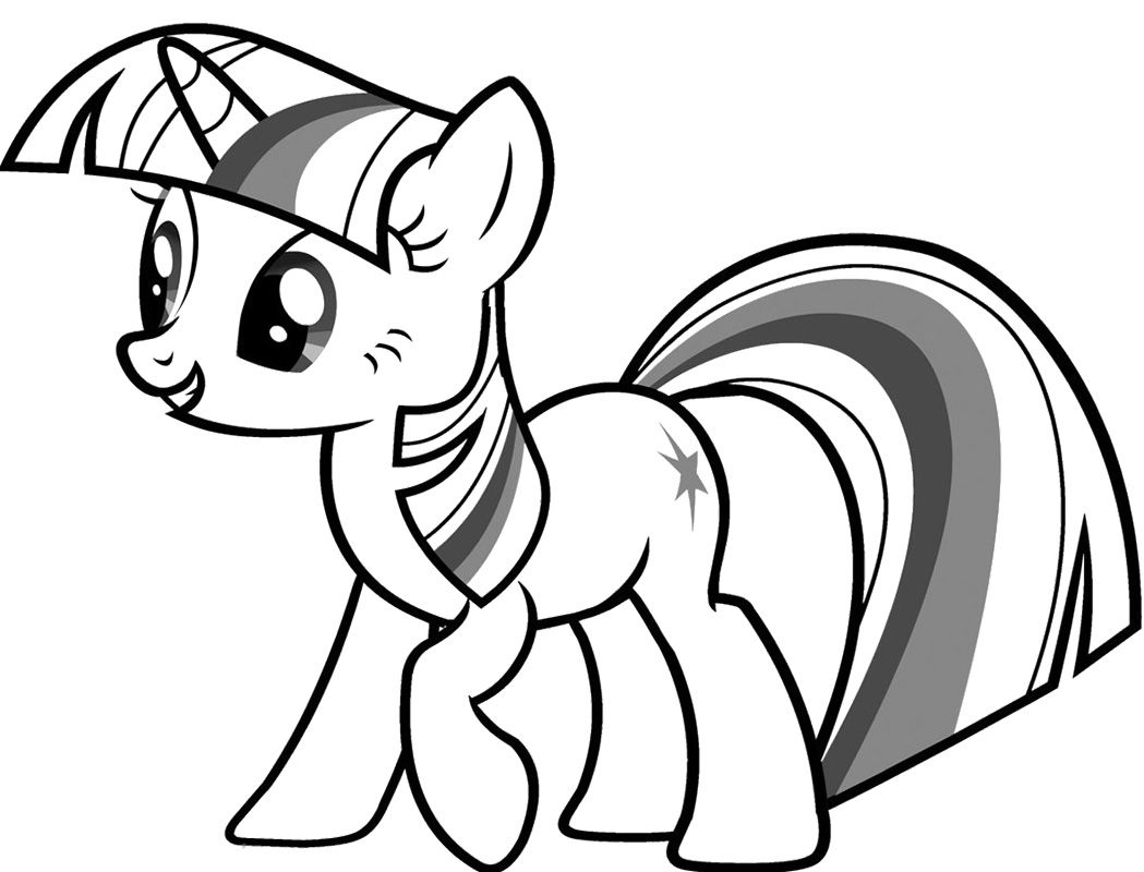 My Little Pony Twilight Sparkle Coloring Pages art