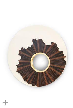 geometrische Möbeldesign http://brabbu.com/en/casegoods/iris-mirror.php