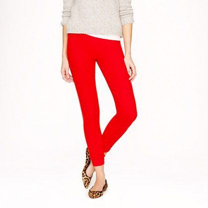 c471919733964 Red pants (I would wear pants... not leggings...), animal print flats,  light neutral sweater over white tee