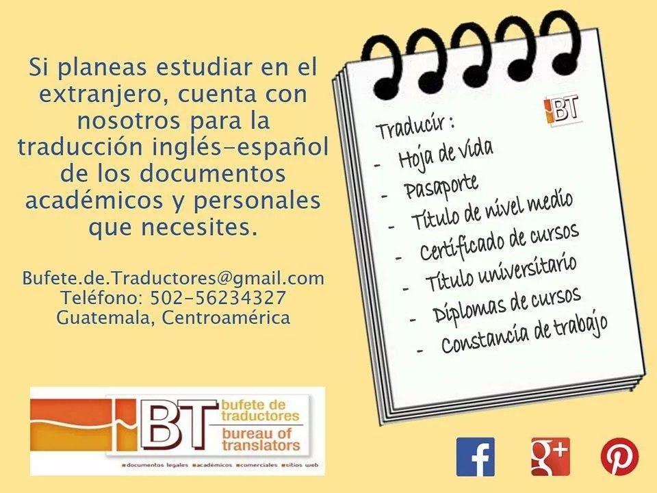 Traducción jurada | Servicios que brinda el Bufete de Traductores ...