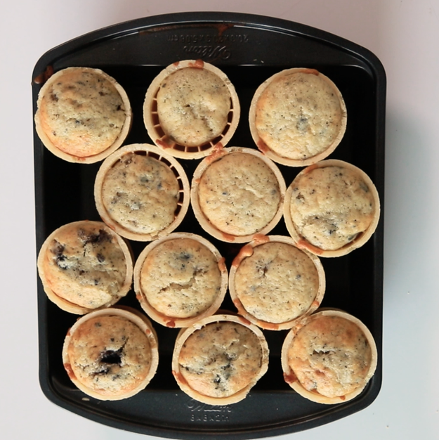 Bake in a 350°F oven for 18 to 20 minutes, until they're puffed, lightly browned, and cooked all the way through. | Here's How You Should Be Eating Cookies 'N' Cream