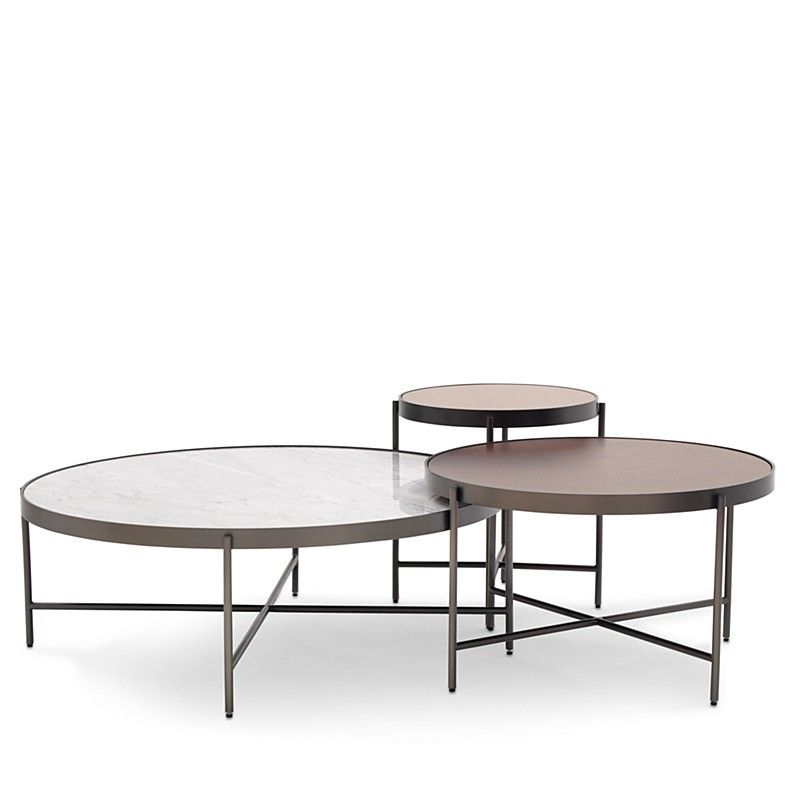 Turino Nesting Coffee Table Cocktail Tables Marble End Tables