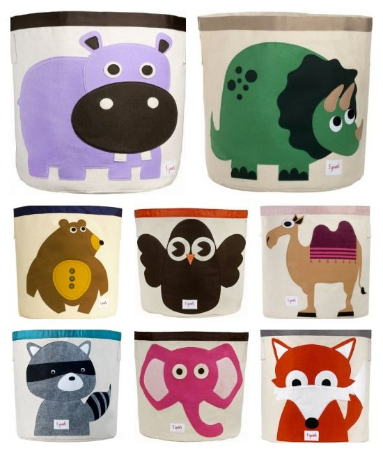 Help Your Kids Clean Up Their Act With This Cute Animal Storage Box From 3  Sprouts