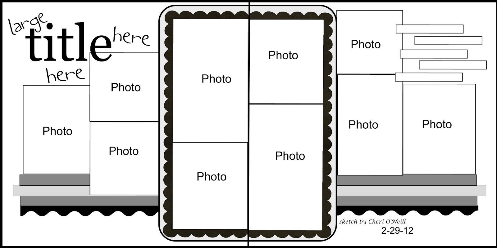 scrapbook 2 page layout, 10 pics #Double Page Scrapbook