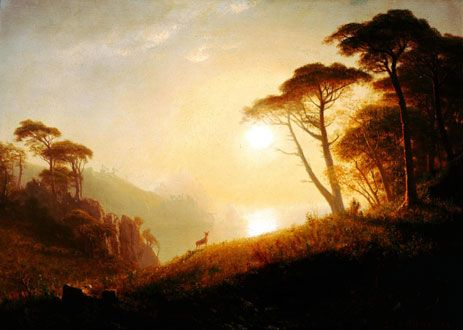 Bierstadt Yosemite Denver Museum | Scene in Yosemite Valley, c.1864/74 | Bierstadt | Dayton Art Institute ...