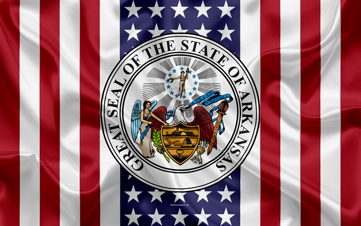 download wallpapers arkansas usa 4k american state seal of