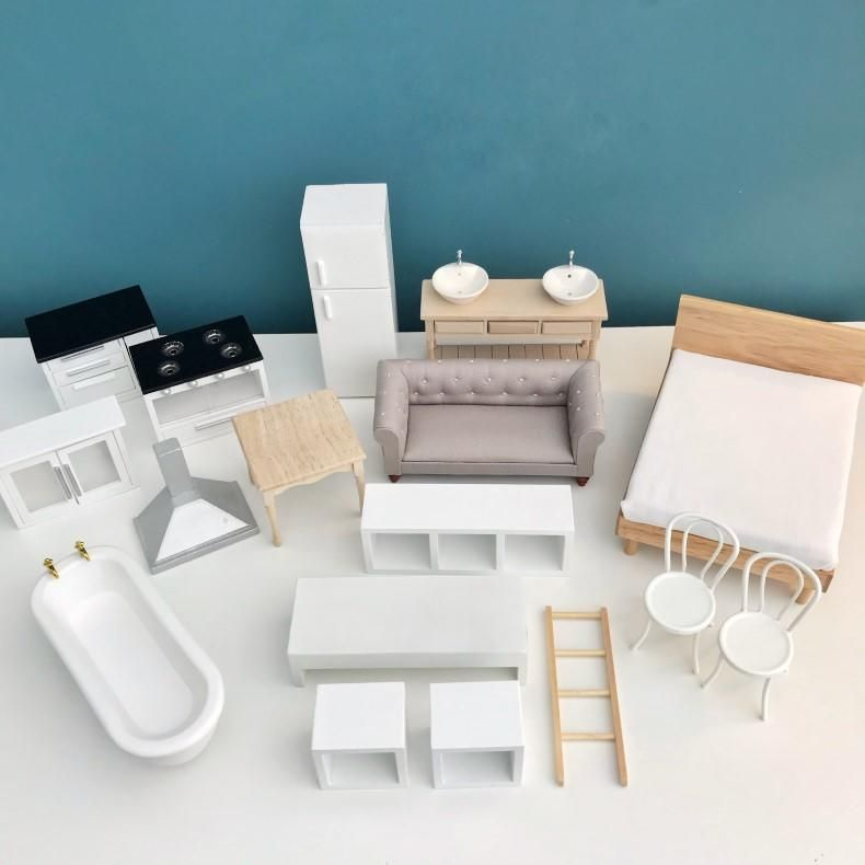 Pretty Little Minis Range Of Modern Dollhouse Furniture Packages In 2020 Modern Dollhouse Furniture Dollhouse Furniture Sets Diy Dollhouse Furniture