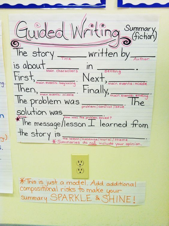 Scaffolded Writing To Help Students Write A Summary Education