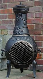 Buy The Grapevine Cast Iron Chiminea Online From The Largest Range