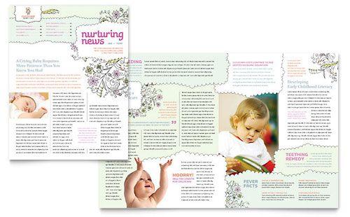 Babysitting Daycare Newsletter Template Design Newsletter Templates Newsletter Template Free Preschool Newsletter Templates