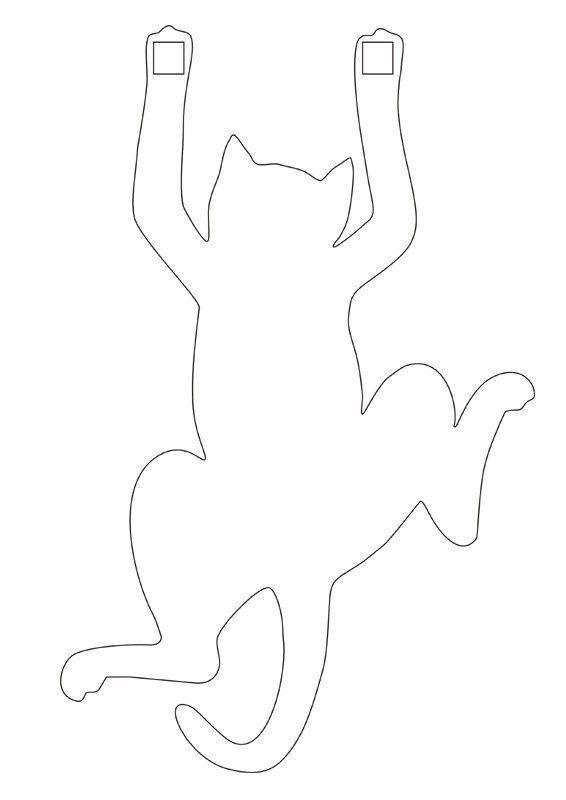 Смыслом жизни, шаблон открытки с котиками