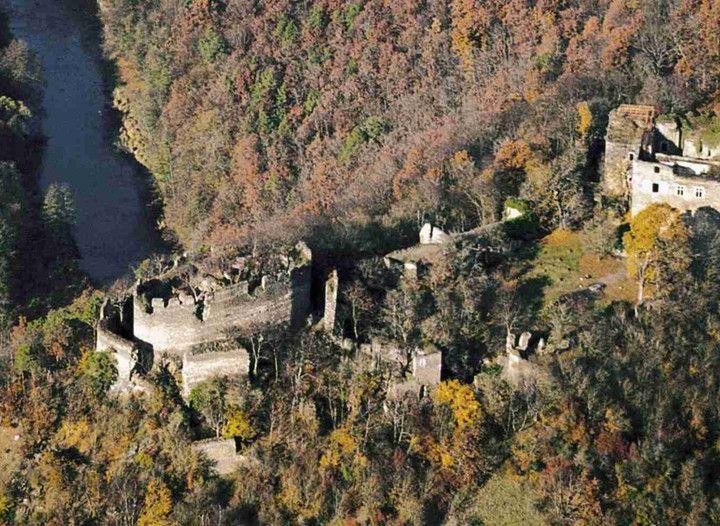 Nový Hrádek u Lukova ruins of the Castle, Czech Rep.