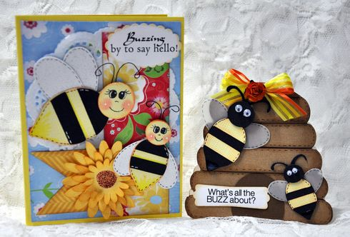 Bee Happy Cards by Leslie F