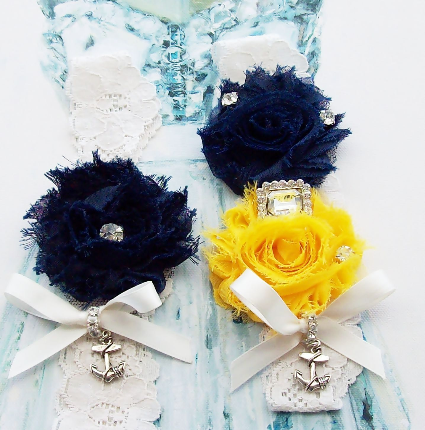 Something Blue,WeddingGarter,Bridal Garter,Navy Garter