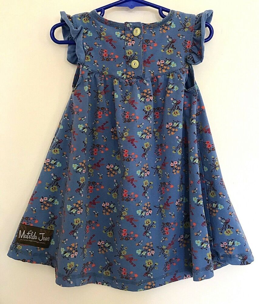 Matilda Jane Girls Size 4 4t Floral Country Blue Dress Tunic Summer M6 Matildajane Long Sleeve Floral Dress Spring Floral Dress Size Girls [ 1000 x 853 Pixel ]