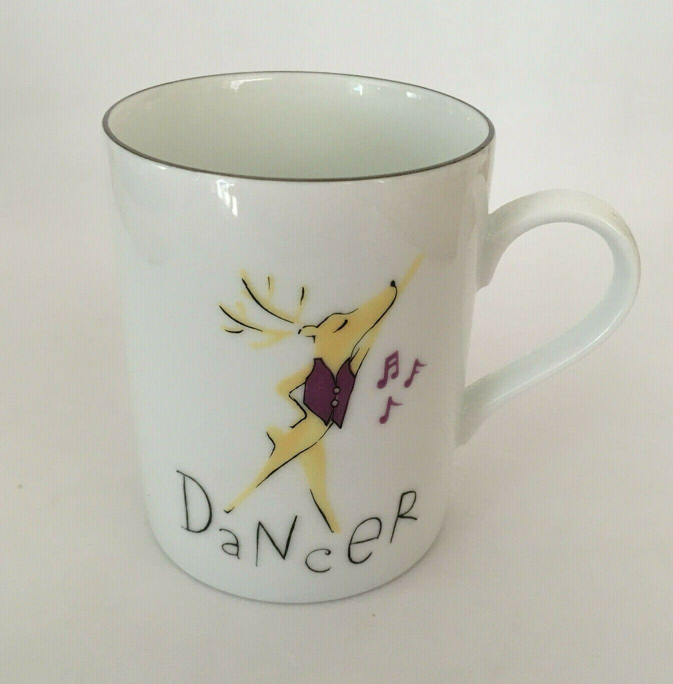 Pottery Barn Reindeer Dancer Christmas Holiday Coffee Tea ...