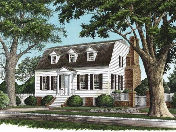 Colonial Style House Plan 4 Beds 3 5 Baths 2537 Sq Ft Plan 137 351 Colonial House Plans Gambrel Roof Cottage Plan