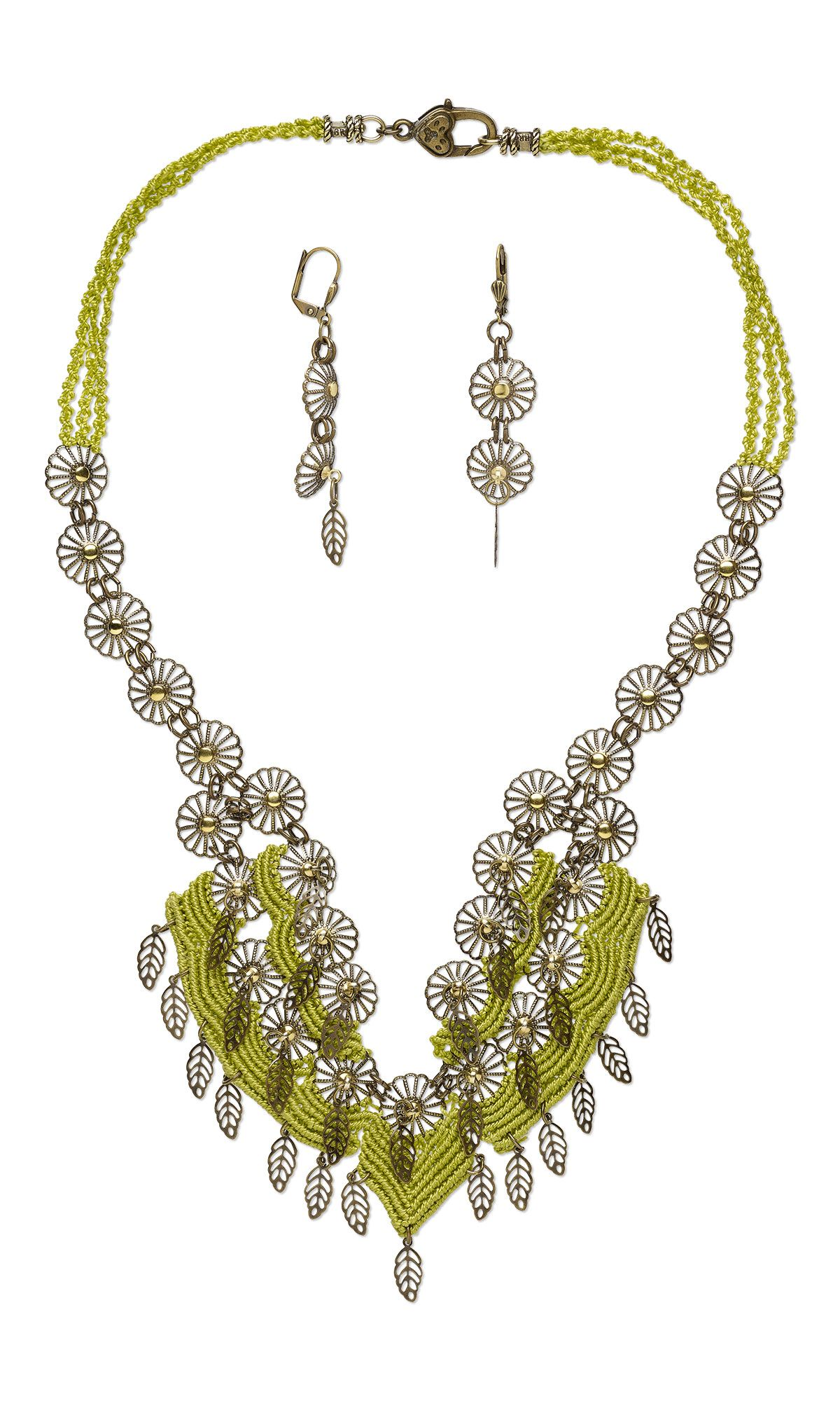 MicroMacrame #diyNecklace and Earrings with Full Step-by-Step ...
