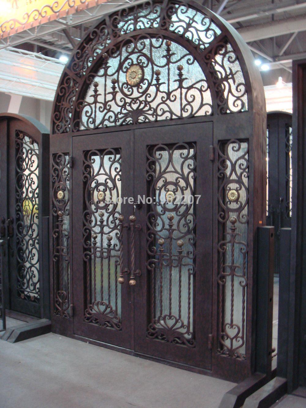 Custom Design Porta In Ferro Battuto Porte Di Ferro Grande Porta