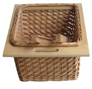 It Kitchens Pull Out Wicker Basket Drawer