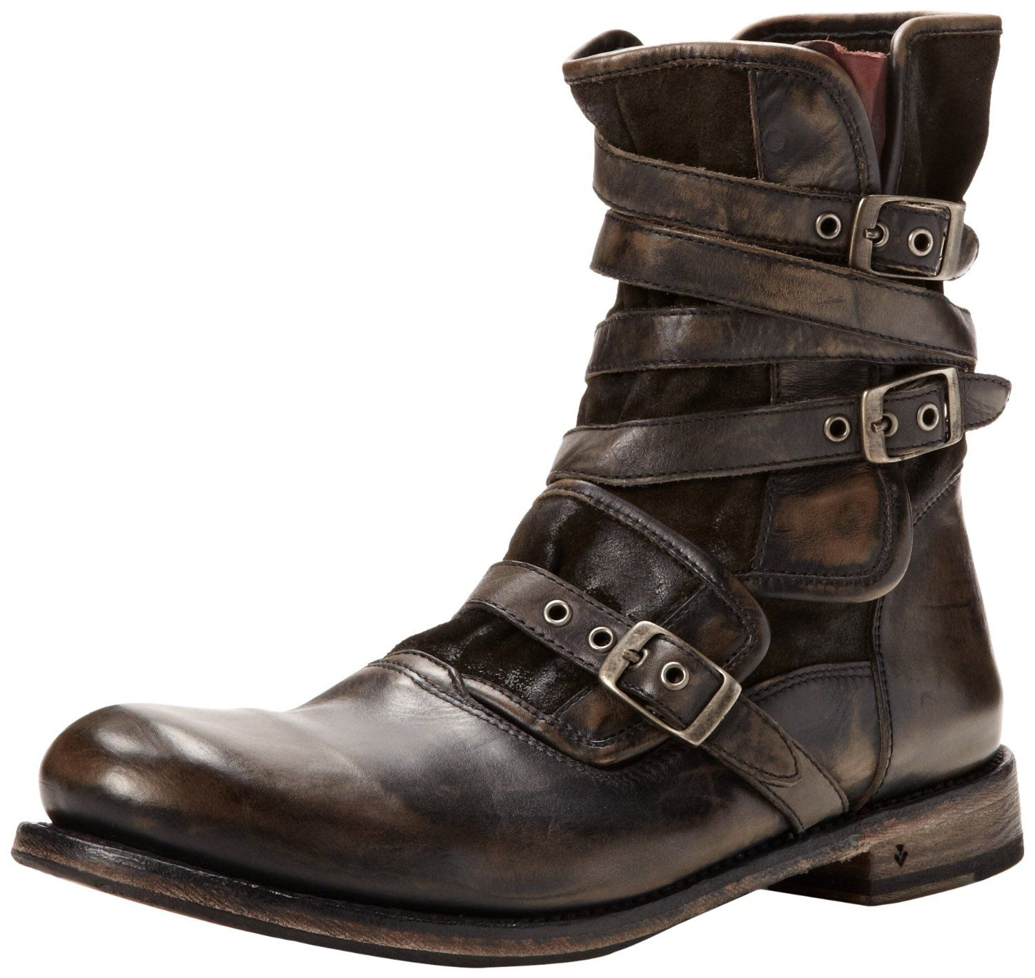 John Varvatos Men's Eg Triple Buckle Boot: Designed by designer John  Varvatos. This boot includes leather straps wrapped around the b.