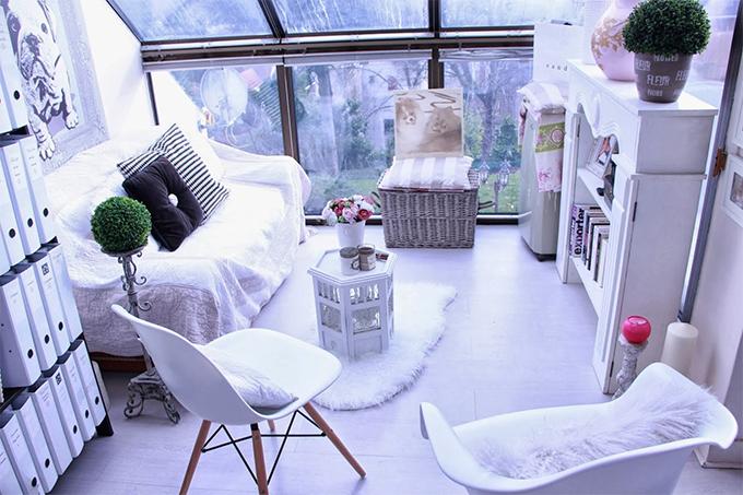 Um home office em estilo Shabby Chic