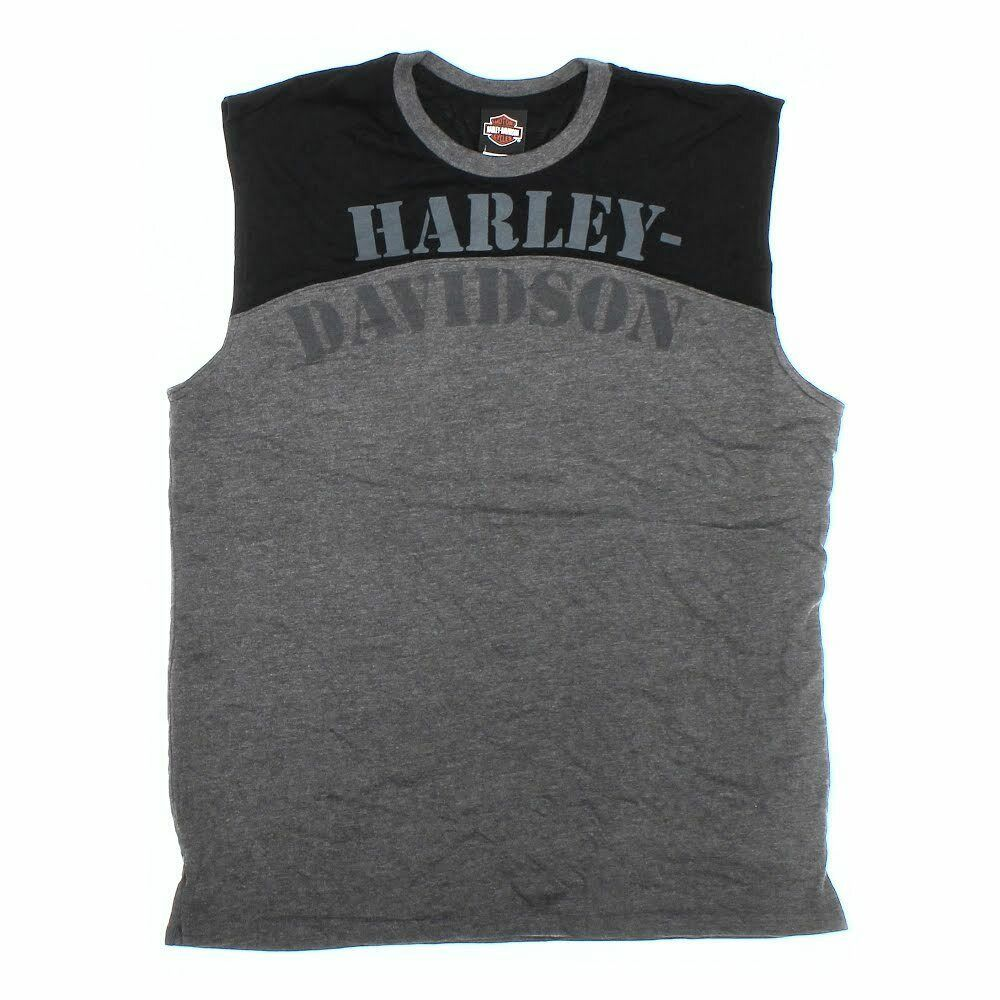 Ebay Sponsored Harley Davidson Men S Tank Top Size Xl Grey Cotton Polyester Athletic Tank Tops Mens Tank Tops Harley Davidson Tank Tops