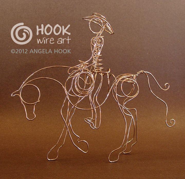 Horse & Rider Wire Sculpture