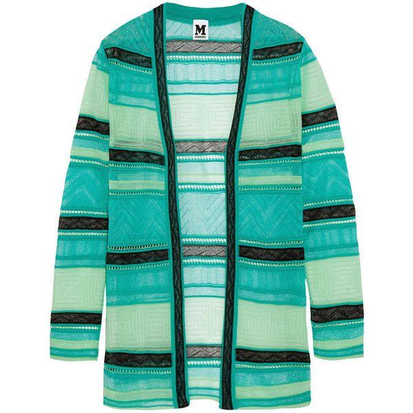 M Missoni Crochet-knit cotton-blend cardigan (18.930 RUB) ❤ liked on