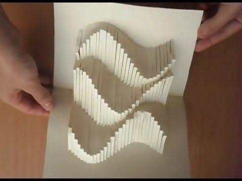 Popupwavescardtutorial Origamic Architecture Youtube Popupcardtutorial Cardtutorial Origami Architecture Paper Architecture Paper Pop