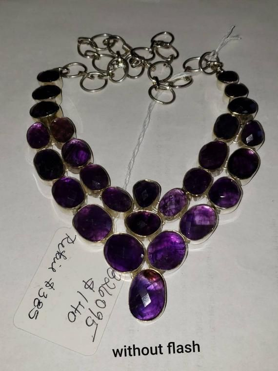 Gorgeous Purple Quartz Necklace