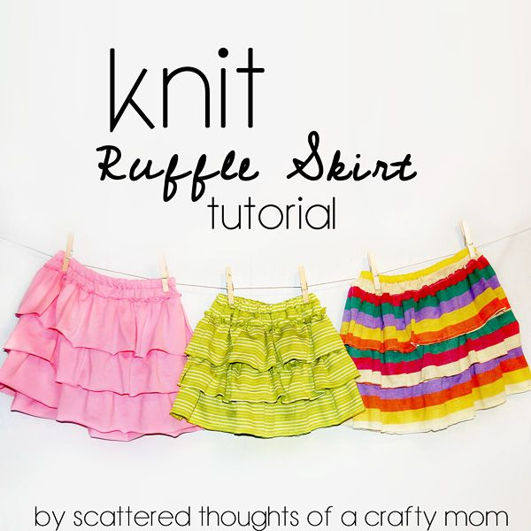 How to make a knit ruffle skirt (using a mans shirt or ...