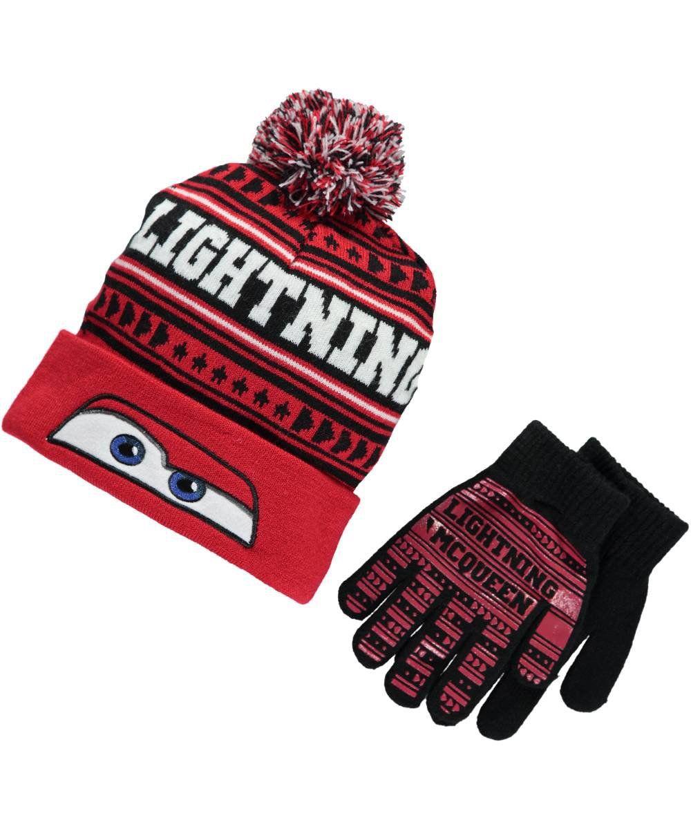 64057485a0d Disney Cars Mcqueen Beanie Hat Gloves Set. Extra soft