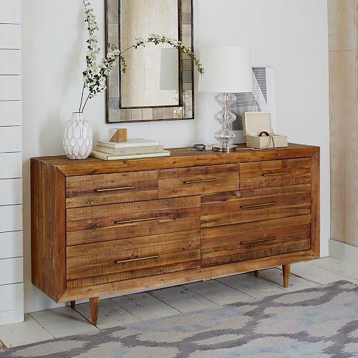 alexa reclaimed wood 7drawer dresser