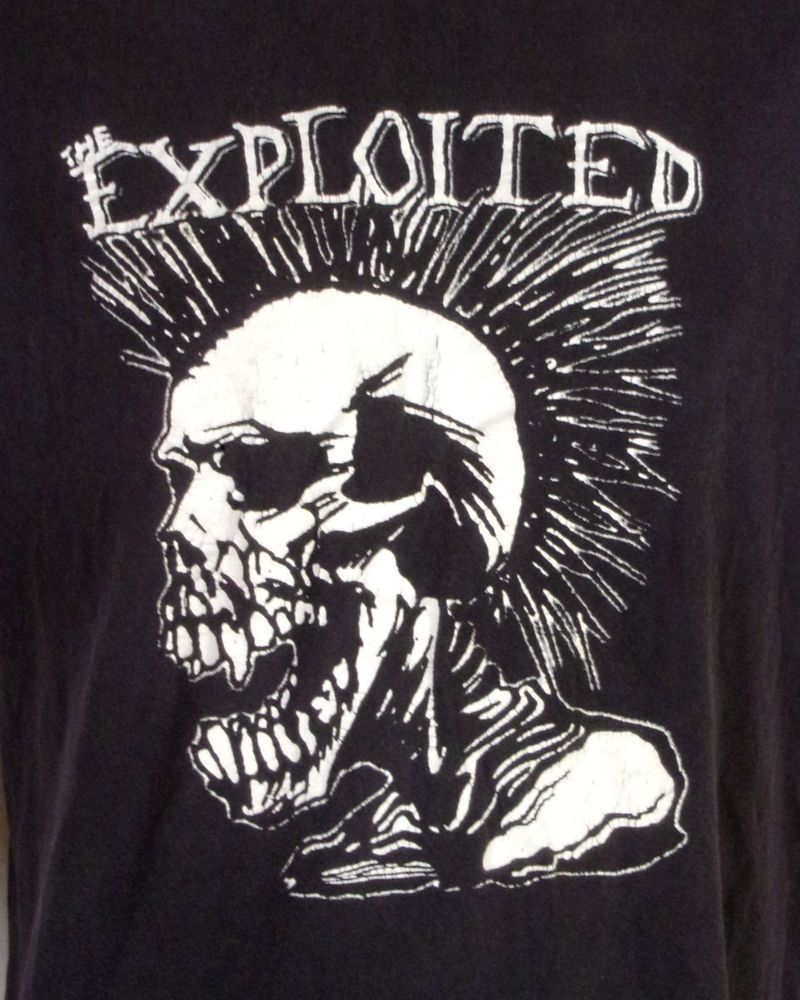 563abc646 vtg 90s worn soft The Exploited T-Shirt Total Chaos Punk Rock sz L ...