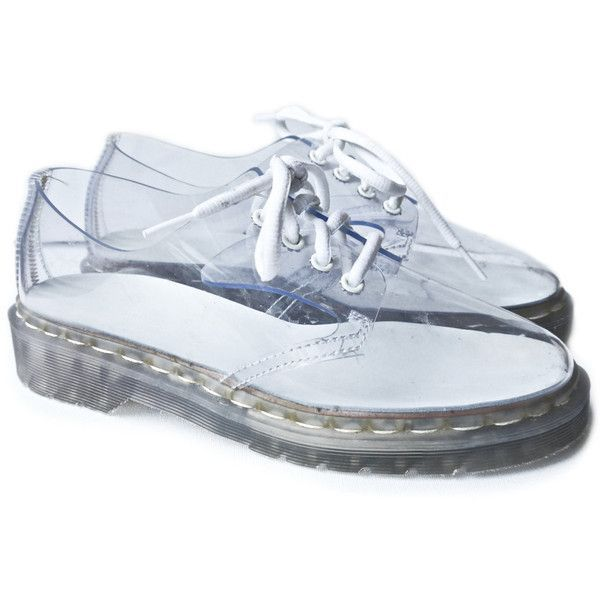 Clear Dr. Martens Oxfords Vinyl Lace up Shoes
