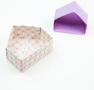 Just posted the tutorial for the House Box  tutorial link in bio  origami house origamihouse housebox box origamibox instructions tutorial paper paperkawaii papercraft paperfolding diy cute kawaii