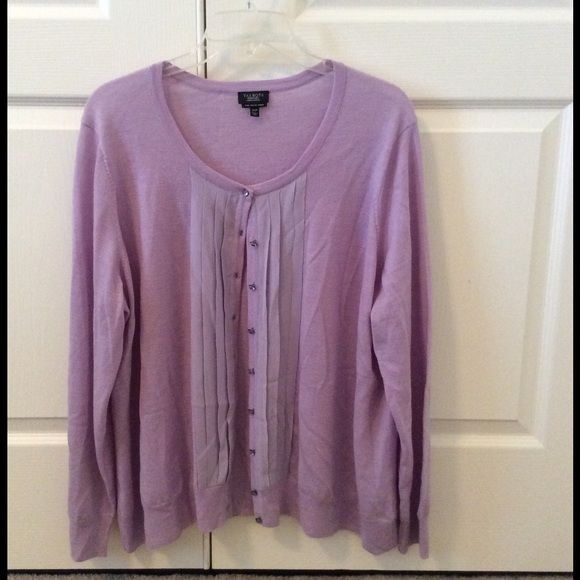 Talbots lilac sweater with ruffle Talbots lilac colored sweater with front ruffle. Size 3X petite. Smoke free, pet free home. Talbots Sweaters